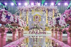 Inomhus bröllopplats royaltyfri fotografi