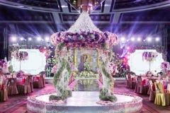 Inomhus bröllopplats royaltyfri bild