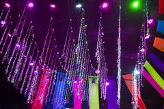 Inomhus dekorativ belysning Royaltyfria Foton