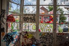 Inomhus grafitti Royaltyfri Bild