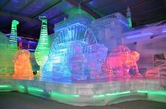 Inomhus isskulpturer fotografering för bildbyråer