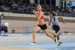 Inomhus konkurrens för turkisk idrotts- ingång för federation olympisk Royaltyfria Foton
