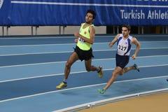 Inomhus konkurrens för turkisk idrotts- ingång för federation olympisk Arkivbilder