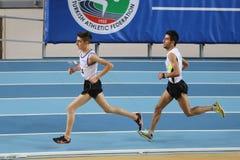 Inomhus konkurrens för turkisk idrotts- ingång för federation olympisk Arkivfoton