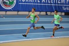Inomhus konkurrens för turkisk idrotts- ingång för federation olympisk Royaltyfri Foto