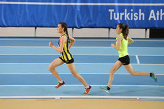 Inomhus konkurrens för turkisk idrotts- ingång för federation olympisk Fotografering för Bildbyråer