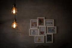 Inomhus ljus, coffee shop royaltyfria foton