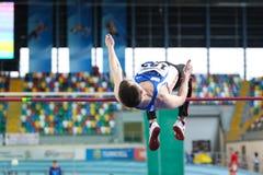 Inomhus mästerskap för Balkan friidrott Royaltyfri Foto