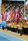 Inomhus mästerskap för Balkan friidrott Royaltyfria Bilder