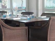 Inomhus placering p? en restaurang arkivbilder
