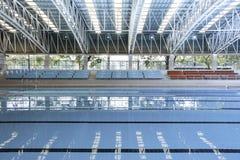 Inomhus simbassäng. Fotografering för Bildbyråer