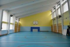 Inomhus skolaidrottshall Arkivbilder