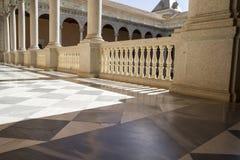 Inomhus slott, Alcazar de Toledo, Spanien Arkivbild