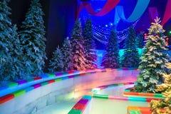 Inomhus snöuppsättning Royaltyfri Fotografi
