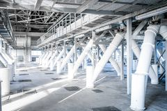 Inomhus utrymme av fabriken arkivfoto
