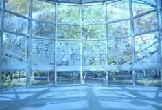 inomhus väggfönster Arkivfoto