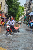 Inondation à Bangkok 2012 Photographie stock