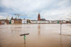 Inondation à Francfort Photo stock