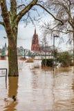 Inondation à Francfort Image stock