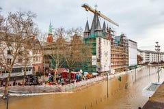 Inondation à Francfort Photo libre de droits