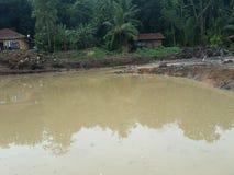 Inondation à l'échange photographie stock libre de droits