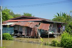 inondation à la maison de l'eau Images stock