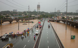 Inondation à Manille, Philippines photo stock