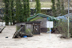 Inondation 2009 de ville de Workington Image stock