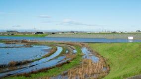 Inondation après forte pluie Image libre de droits