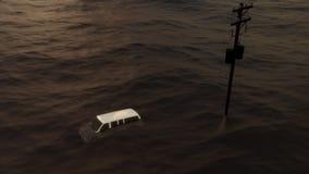 Inondation après ouragan Harvey dans le Texas banque de vidéos