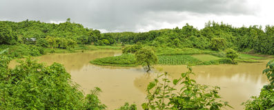 Inondation au Bangladesh Photos stock