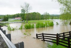 Inondation au Tennessee Images stock