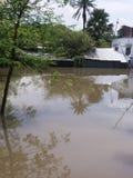 Inondation Bangladesh affecté Photographie stock libre de droits