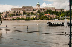 Inondation 2013, Budapest, Hongrie du Danube Image stock