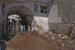 Inondation d'Atrani Photo stock