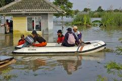 Inondation dans Karawang Images libres de droits