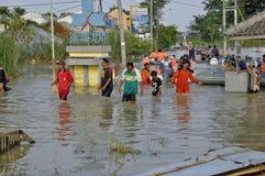 Inondation dans Karawang Photos stock
