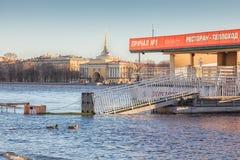Inondation dans le St Petersbourg, Russie Photo libre de droits
