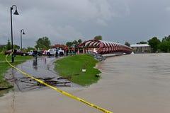 Inondation 2013 de Calgary Image libre de droits