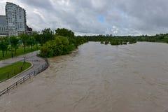 Inondation 2013 de Calgary Images libres de droits