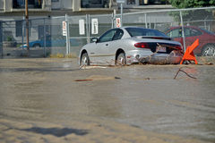 Inondation 2013 de Calgary Photographie stock libre de droits