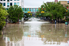 Inondation de Calgary 2013 Photos stock