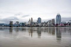 Inondation 2018 de Cincinnati Photo libre de droits