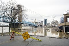 Inondation 2018 de Cincinnati Photos stock