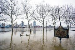 Inondation 2018 de Cincinnati Photographie stock