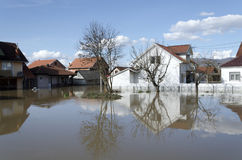 Inondation de fleuve photo stock