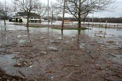 Inondation de fleuve de Connectictut Photographie stock libre de droits