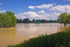 Inondation de fleuve de Vistula Image libre de droits