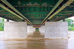 Inondation de fleuve de Vistula photographie stock