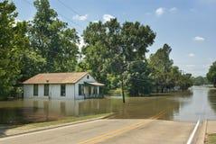 Inondation de Fleuve Mississippi - Rue Francisville Image stock